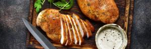 gebratenes Hähnchenfleisch